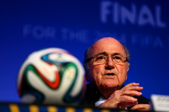 COSTA DO SAUIPE, BAHIA - DECEMBER 05:  FIFA President Joseph S. Blatter attends the FIFA Executive Committee Meeting Press Conference during a media day ahead of the 2014 FIFA World Cup Draw at Costa do Sauipe Resort on December 5, 2013 in Costa do Sauipe, Brazil.  (Photo by Clive Mason/Getty Images)