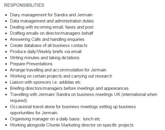 Jermain DefoeS Job Ad For  Personal Assistant Is So