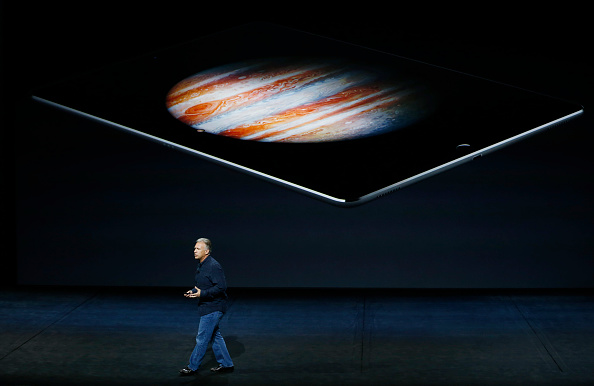 SAN FRANCISCO, CA - SEPTEMBER 9: Apple Senior Vice President of Worldwide Marketing Phil Schiller speaks about the iPad Pro on stage during a Special Event at Bill Graham Civic Auditorium September 9, 2015 in San Francisco, California. Apple Inc. is expected to unveil latest iterations of its smart phone, forecasted to be the 6S and 6S Plus. The tech giant is also rumored to be planning to announce an update to its Apple TV set-top box. (Photo by Stephen Lam/ Getty Images)