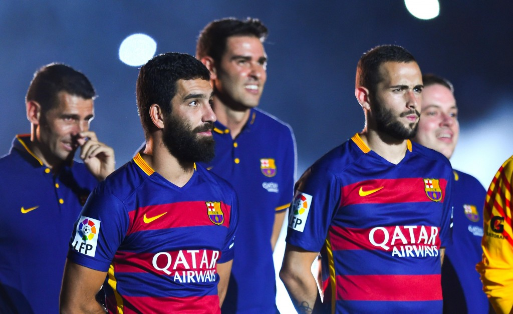 <> at Camp Nou on August 5, 2015 in Barcelona, Spain.