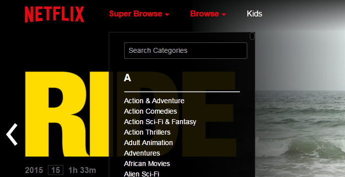 You can now access Netflix's hidden categories without the secret