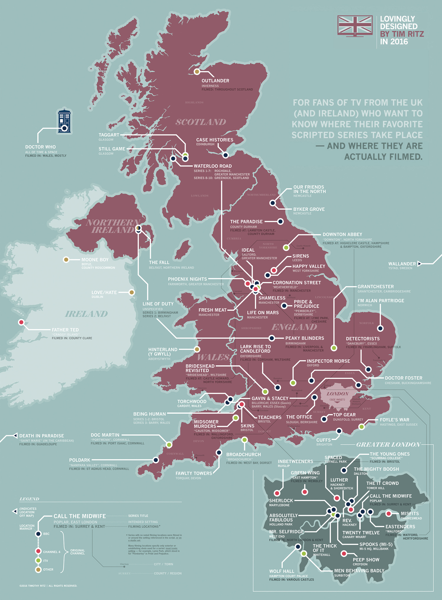 PIC This Brilliant Map Of Britain Shows Where Your Favourite TV - Map Of The Us And Britain