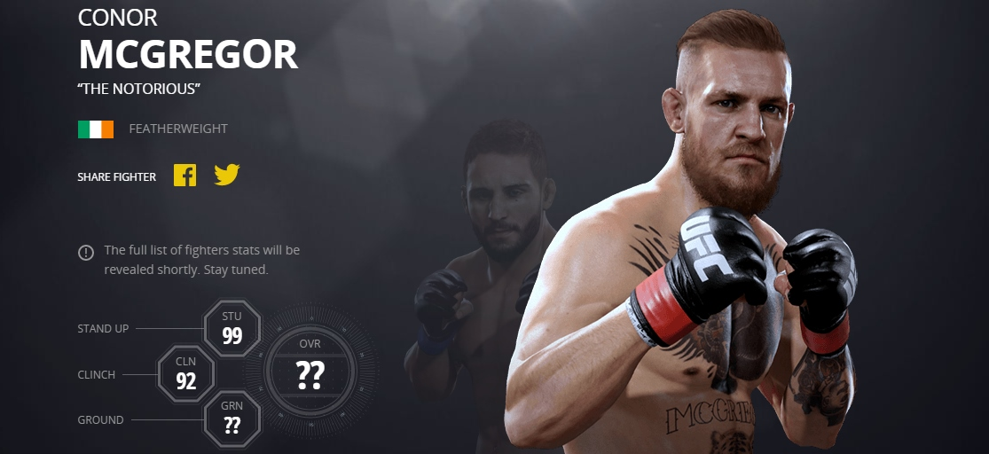Conor Mcgregor Won T Be Happy About Who Has Better Lightweight Striking Stats On Ufc 2 Game Sportsjoe Ie
