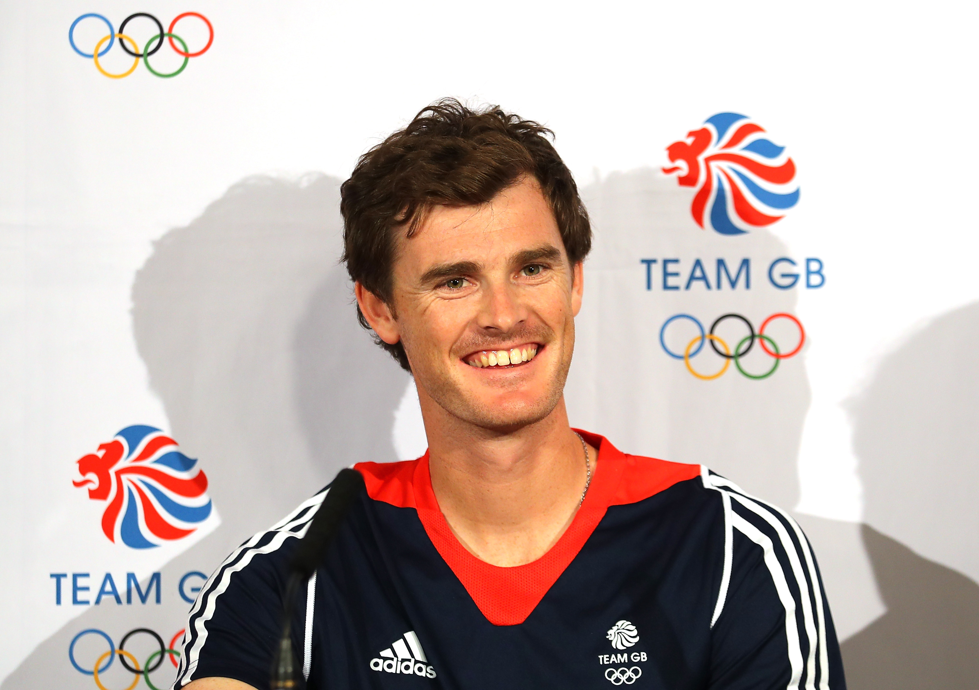 LONDON, ENGLAND - JUNE 10: Jamie Murray of Great Britain speaks to the media during an announcement of tennis athletes named in Team GB for the Rio 2016 Olympic Games at The Queen's Club on June 10, 2016 in London, England. (Photo by Warren Little/Getty Images)