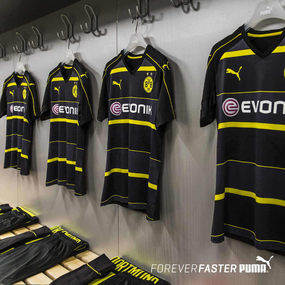 692b583fe Dortmund s beautiful black and grey away strip unveiled in official ...