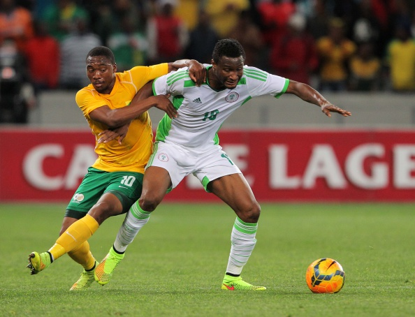 CAPE TOWN, SOUTH AFRICA - SEPTEMBER 10: Obi Mikel of Nigeria during the Orange AFCON, Morocco 2015 Final Round Qualifier match between South Africa and Nigeria at Cape Town Stadium on September 10, 2014 in Cape Town, South Africa. (Photo by Carl Fourie/Gallo Images)