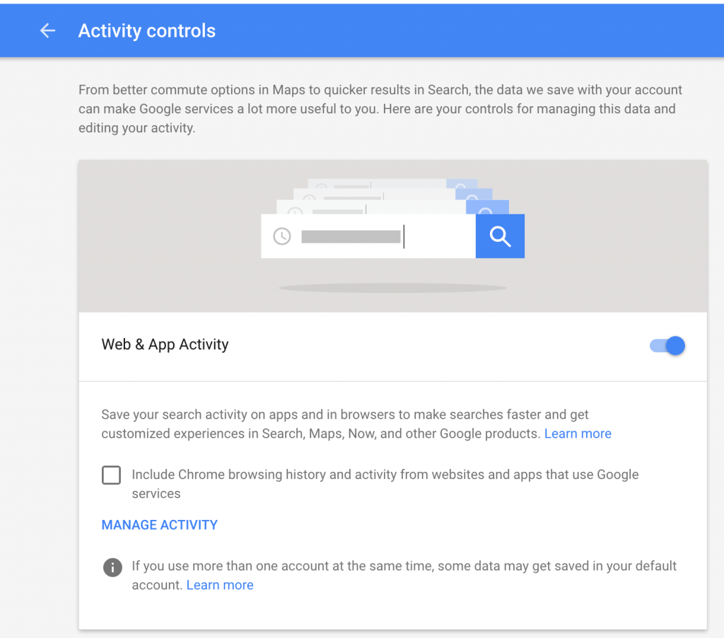 Web and App Activity