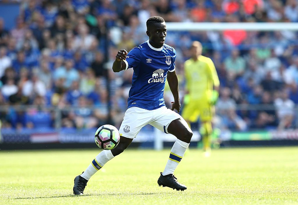 LIVERPOOL, ENGLAND - AUGUST 06: Idrissa Gana Gueye of Everton in action during the pre-season friendly match between Everton and Espanyol at Goodison Park on August 6, 2016 in Liverpool, England. (Photo by Jan Kruger/Getty Images)