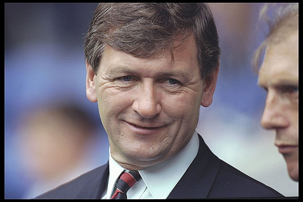 31 Jul 1996: A portrait of Bruce Rioch the manager of Arsenal taken during the testimonial match for Richard Gough of Glasgow Rangers, at Ibrox in Glasgow. Mandtory Credit: Clive Mason/Allsport UK