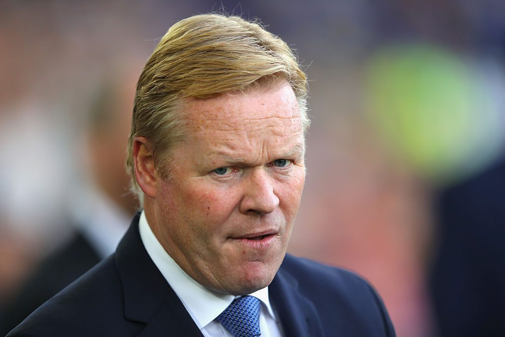 LIVERPOOL, ENGLAND - SEPTEMBER 17: Ronald Koeman, Manager of Everton before kick off during the Premier League match between Everton and Middlesbrough at Goodison Park on September 17, 2016 in Liverpool, England. (Photo by Richard Heathcote/Getty Images)