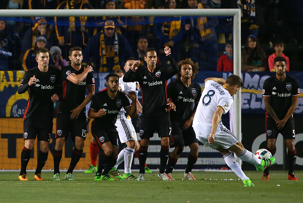 during the MLS match at StubHub Center on March 6, 2016 in Carson, California.