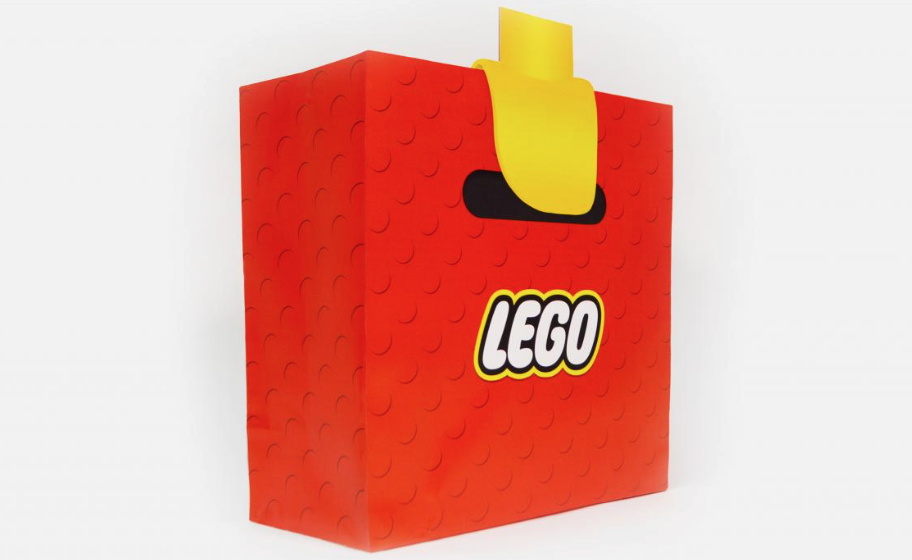 Some genius made a bag that makes you look like a LEGO man