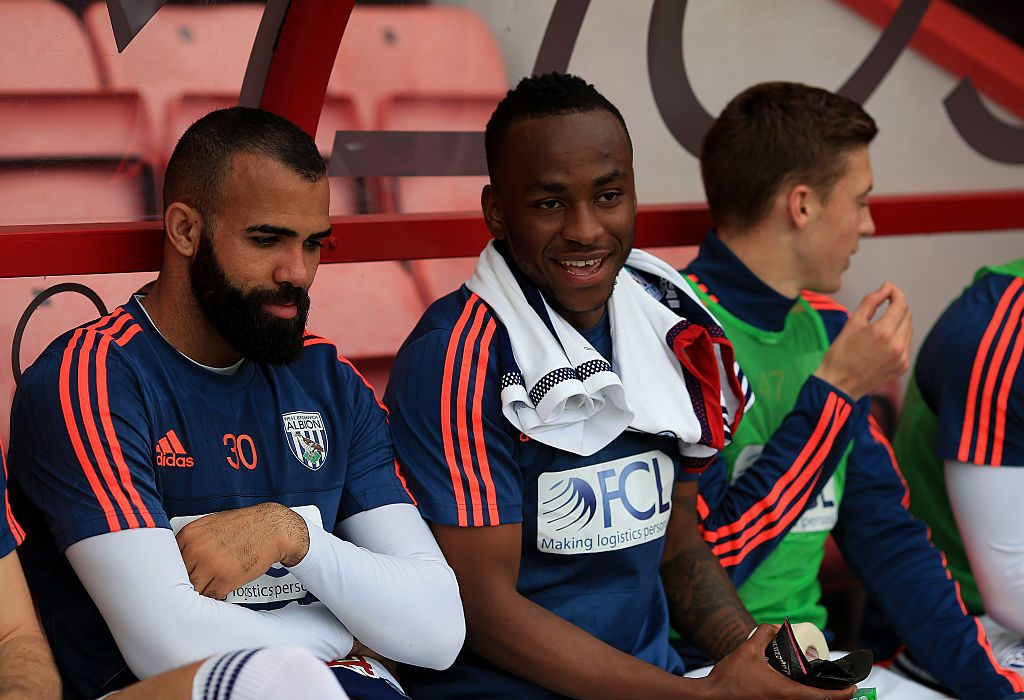BOURNEMOUTH, ENGLAND - MAY 07: Saido Berahino looks on ahead of the Barclays Premier League match between A.F.C. Bournemouth and West Bromwich Albion at the Vitality Stadium on May 7, 2016 in Bournemouth, United Kingdom. (Photo by Ben Hoskins/Getty Images)