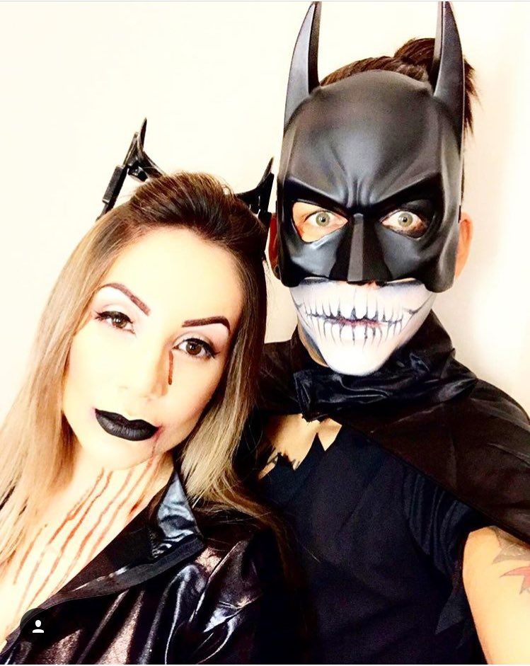 He was part-Skeletor and part-Batman in a kind of Día de Muertos meets Dark Knight outfit...with a black star for an eye.  sc 1 st  JOE.co.uk & Liverpool halloween costumes - Firmino confused Coutinho cool and ...