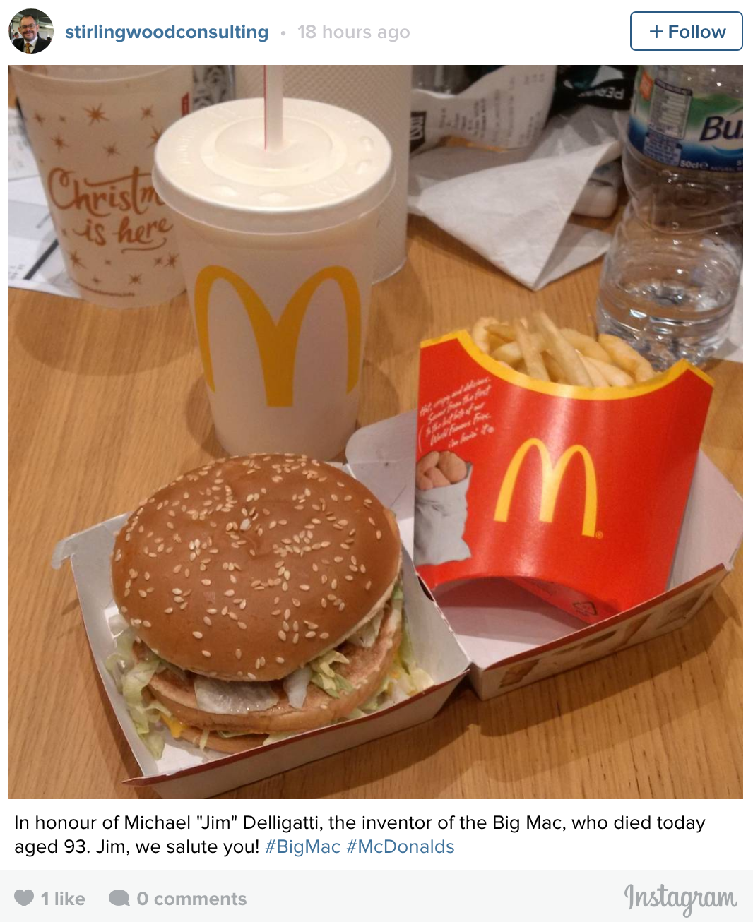 Mcdonalds customers honour the inventor of the big mac following advertisement ccuart Image collections