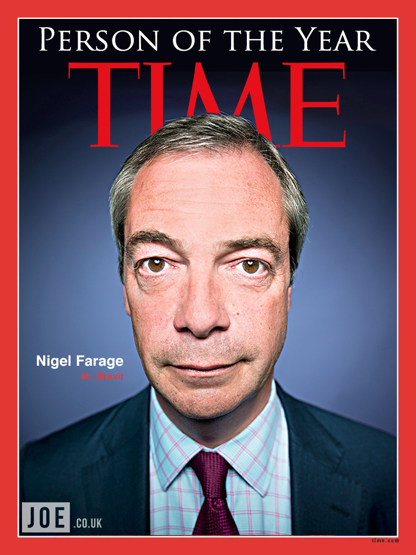 Nigel Farage on course to be named Time's Person of the ...