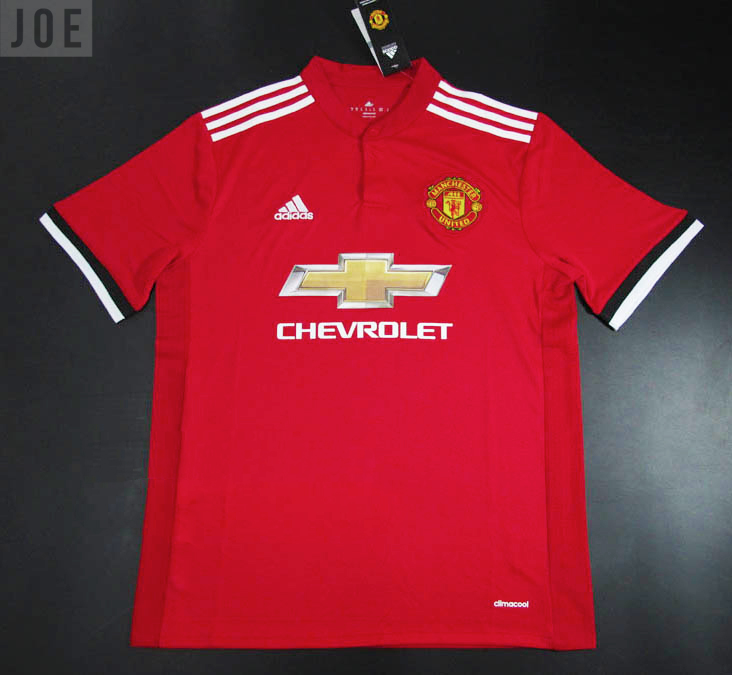 683119bdd Clear new images of Manchester United s 2017 18 home kit have been ...