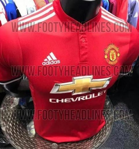 the latest b3b80 60174 Photos Of Manchester United's 2017/18 Kit Have Been Leaked