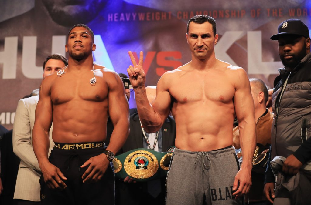Joshua Versus Klitschko Fight Set For October Rematch