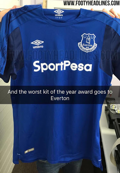 timeless design 4f1f7 38b47 Everton fans might hope this leaked jersey for next season ...
