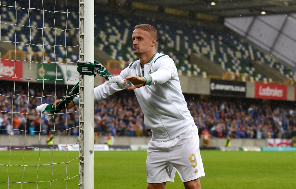 Celtic's Leigh Griffiths charged by UEFA for 'provoking spectators' at Linfield