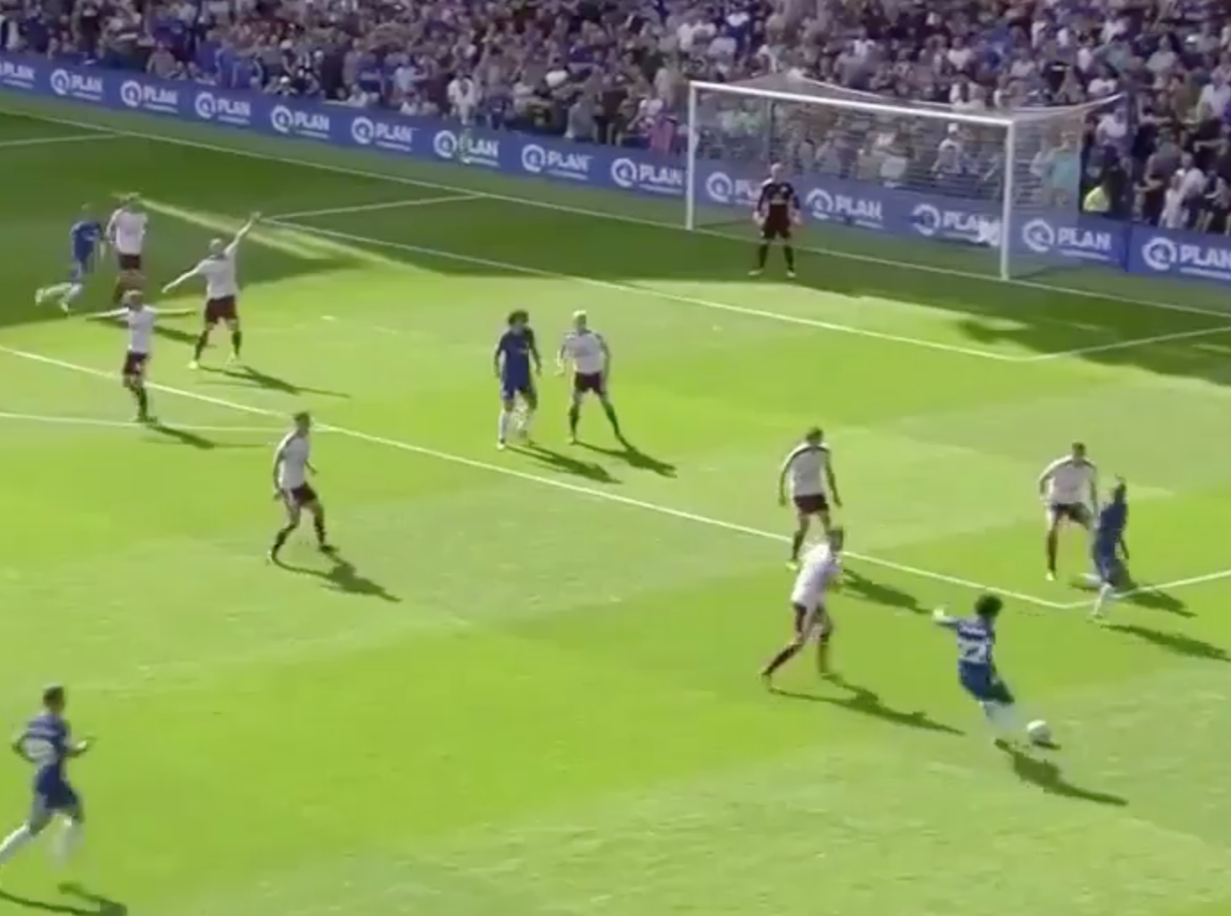 Alvaro Morata scores his first goal for Chelsea in defeat to Burnley