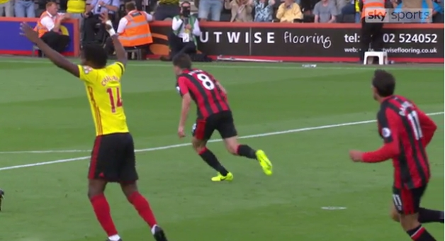 Bournemouth's Harry Arter Saved A Goal By Yelling At Watford's Nathaniel Chalobah