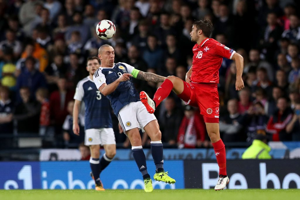 Scott Brown brands Malta player a 'horrible b*****d' over spitting