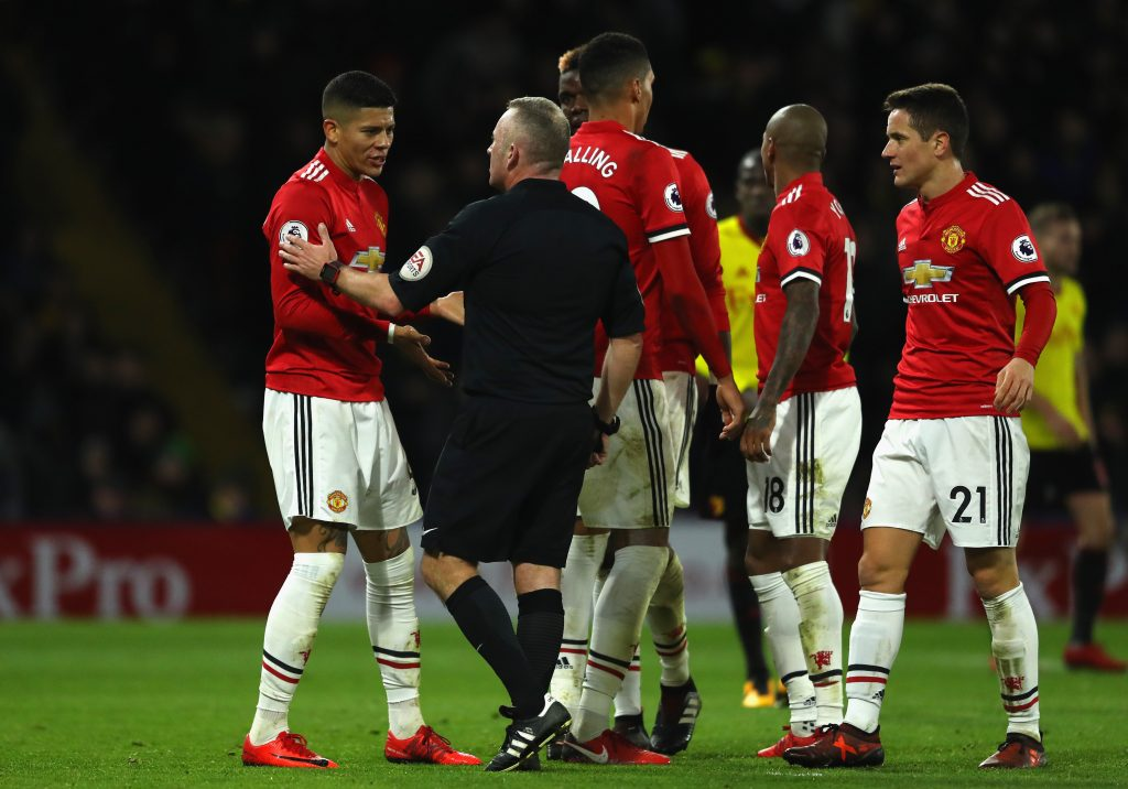 Watford manager believes United defender should have been sent off
