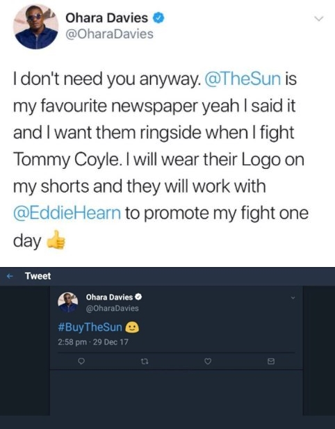 Eddie Hearn pulls boxer from fight after comments about The