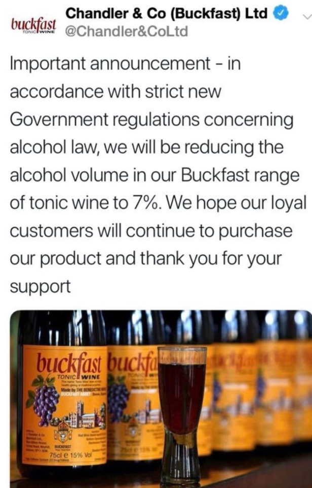 Buckfast Drinkers Have Been The Victims Of An Unspeakable