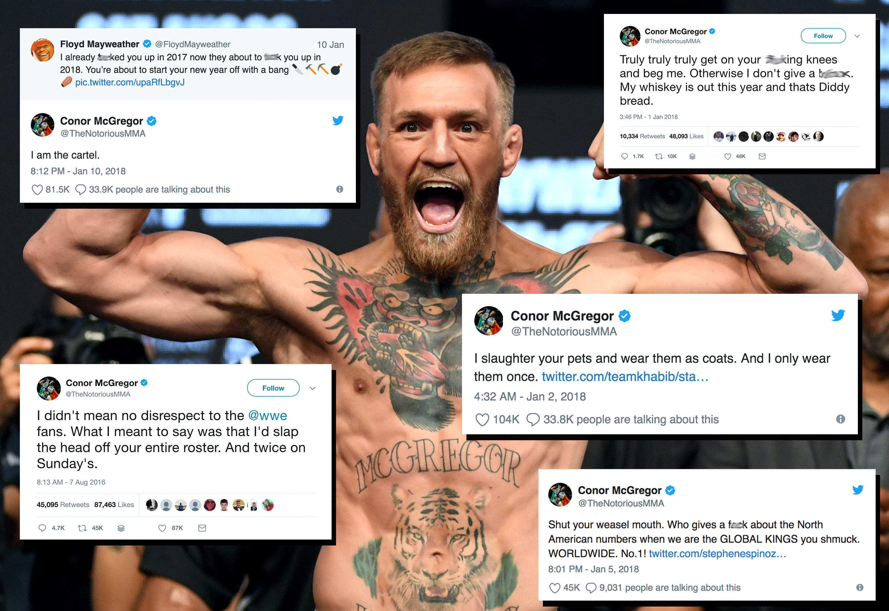 Conor McGregor burns Floyd Mayweather on social media