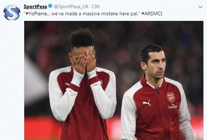 Arsenal sponsor deletes tweets posted during defeat to Manchester