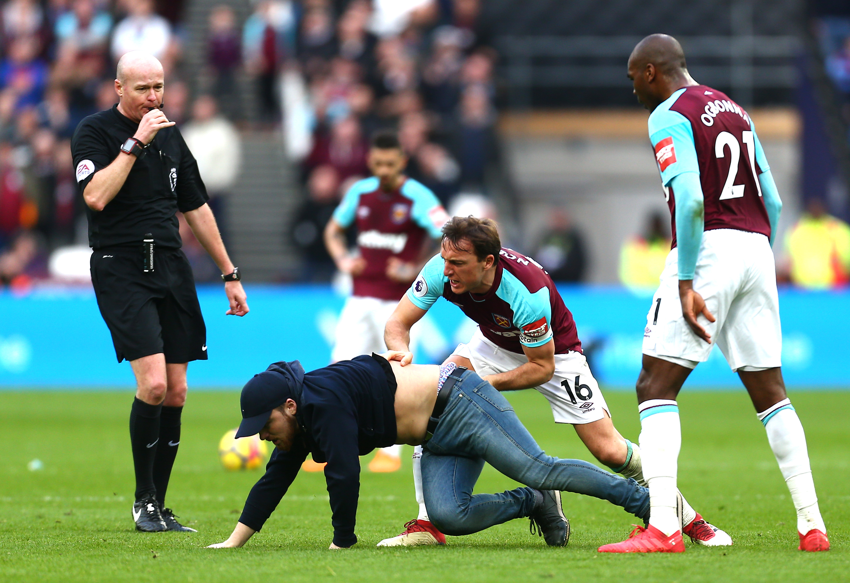 Ugly scenes as West Ham lose home match