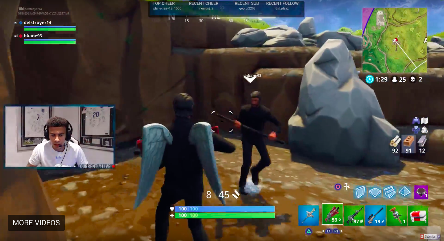 Harry Kane Is Stealing All The Kills From Dele Alli On Fortnite