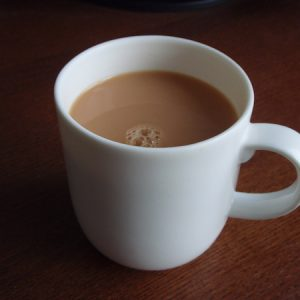 Tea or coffee (without sugar)