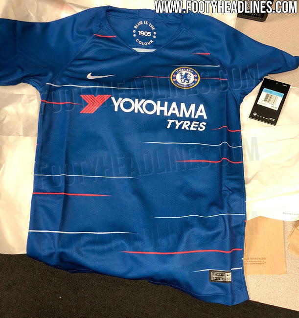 timeless design 90202 68431 Leaked images of Chelsea's new kit show classy new feature ...