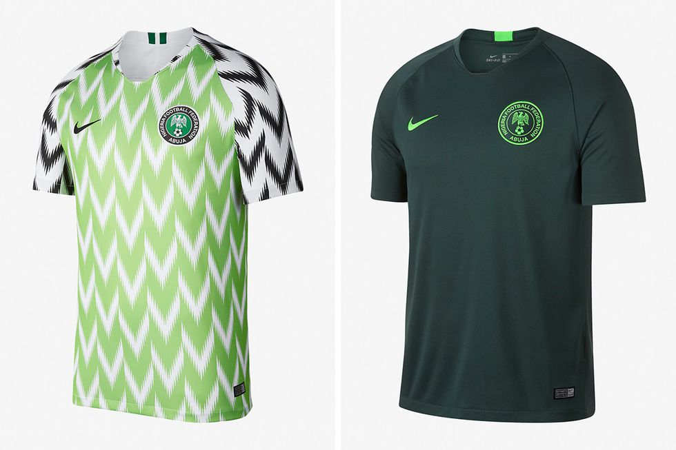 People are literally queueing around the block for the Nigeria kit ... 8391b15c3