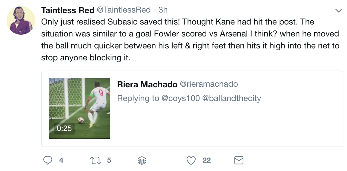 Many England fans have only just realised Harry Kane's shot was
