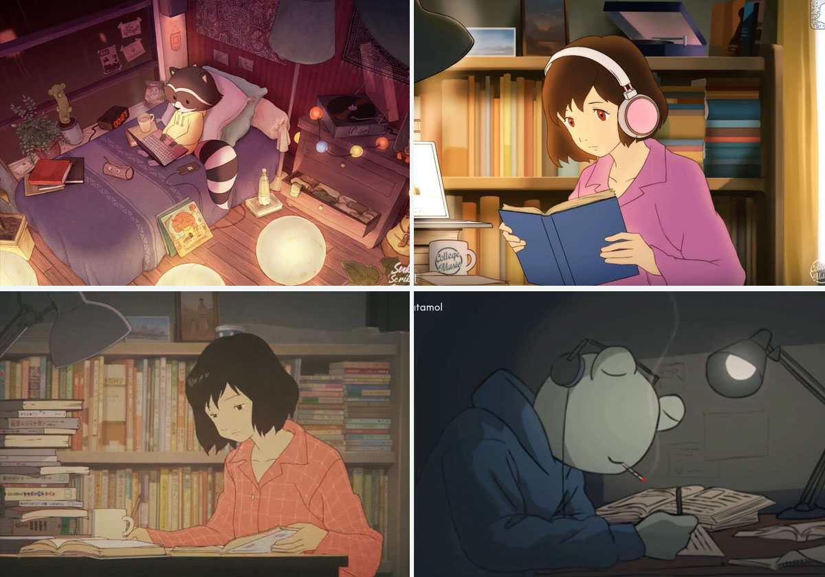 "How ""lofi beats to relax/study to"" YouTube channels define a"