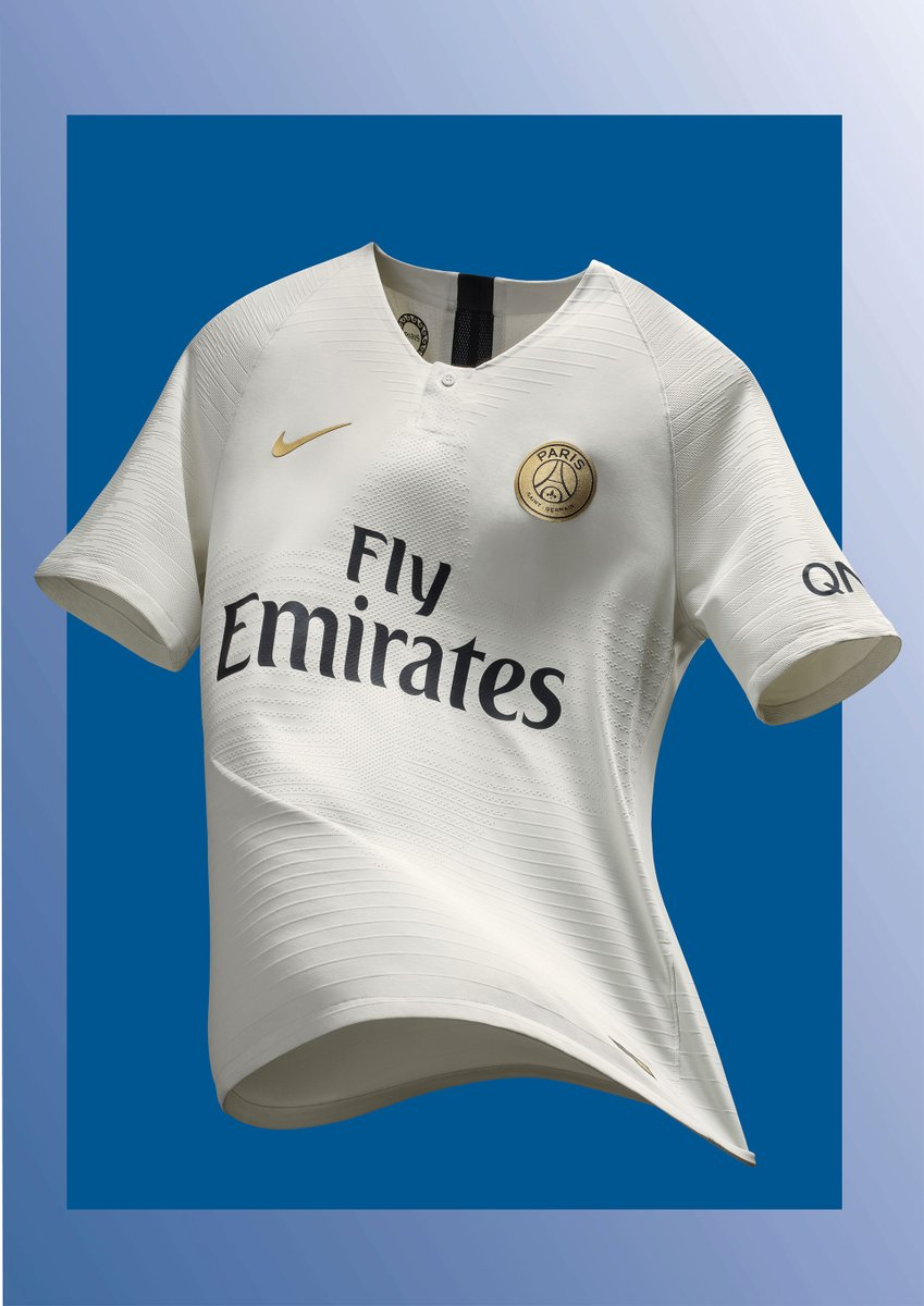 57538c92 ... appreciate comes from Paris Saint-Germain, after the release of their  new away jersey. The all white number features a gold badge and Nike  swoosh, ...