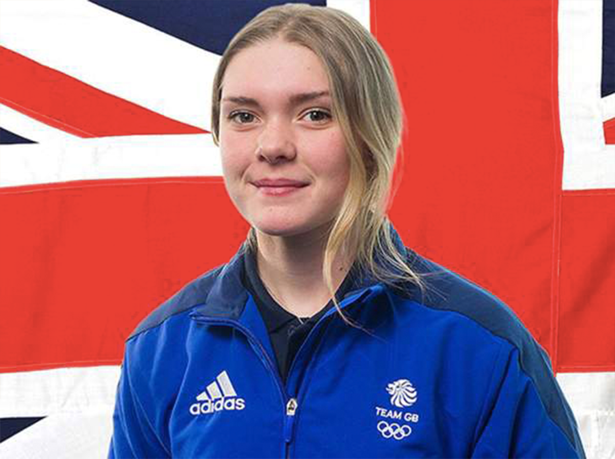 Ellie Soutter in her Team GB kit died by suicide on Wednesday