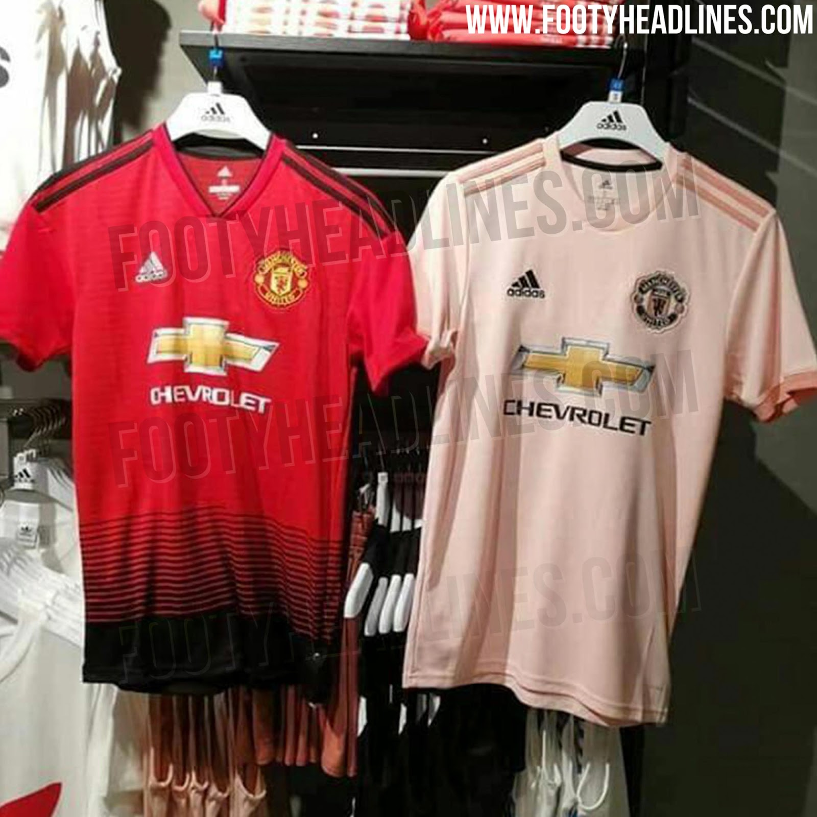 release date a8ff6 14546 PICS: Manchester United's new pink away shirt has been ...