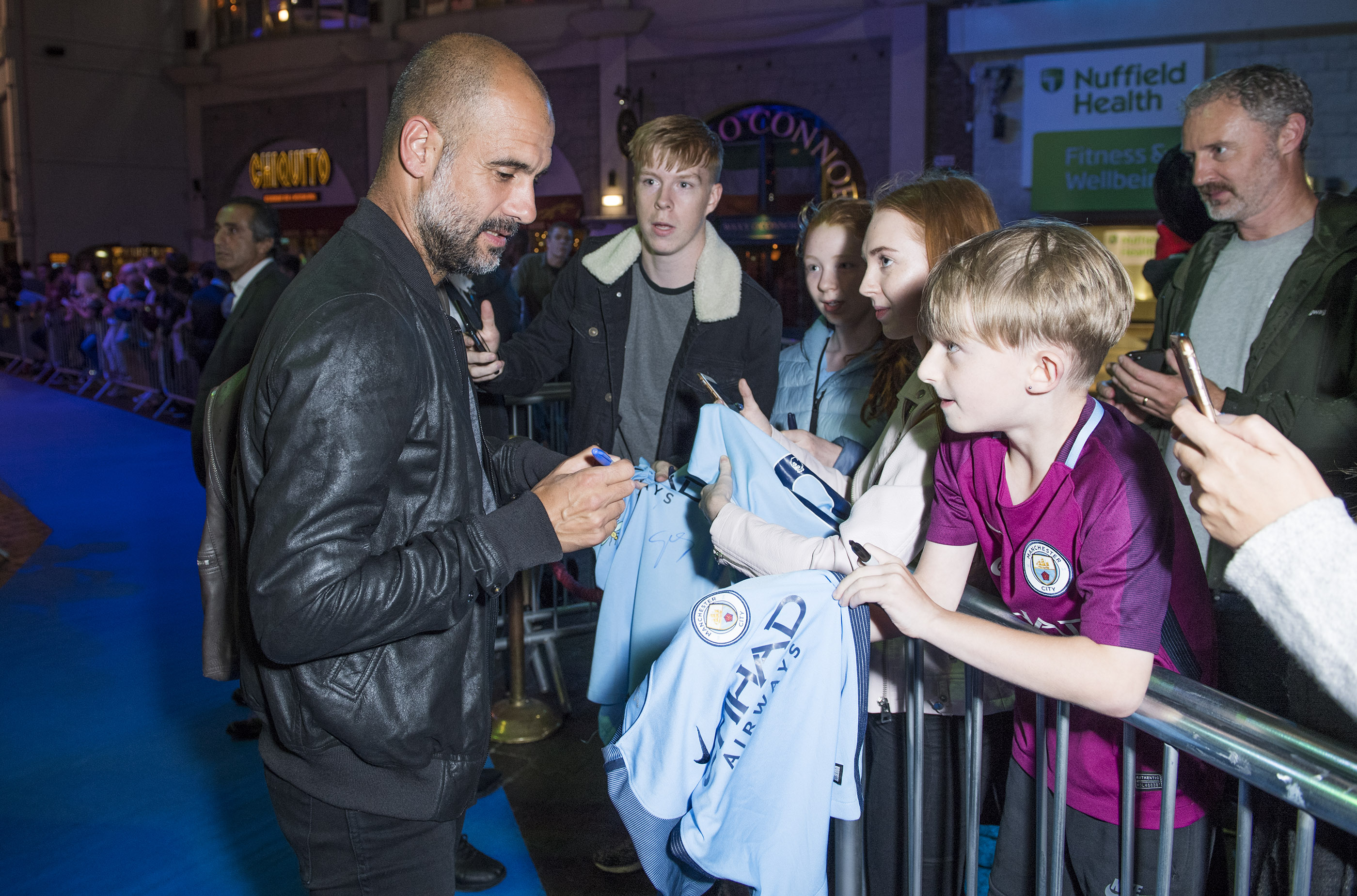Manchester City v Huddersfield: David Silva's baby steals show as City mascot