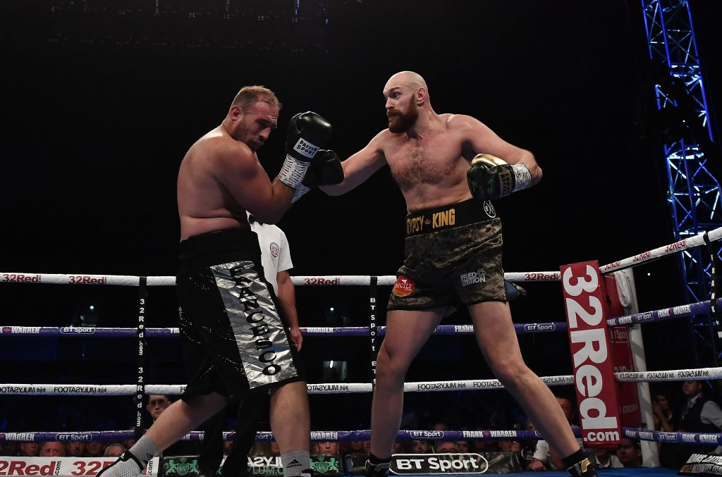 Watch Deontay Wilder Crash Tyson Fury's Weigh-In, Clash With Fighter's Dad