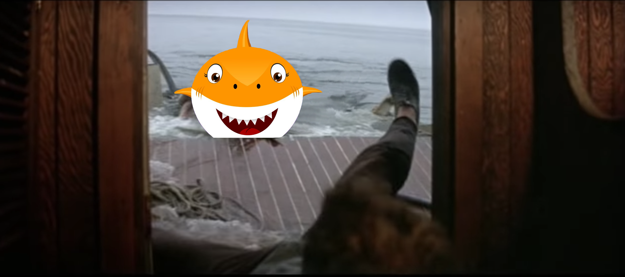 Jaws, but with the Baby Shark family instead of real ...