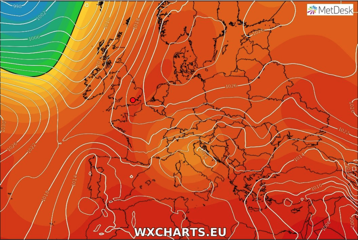 Heatwave weather chart