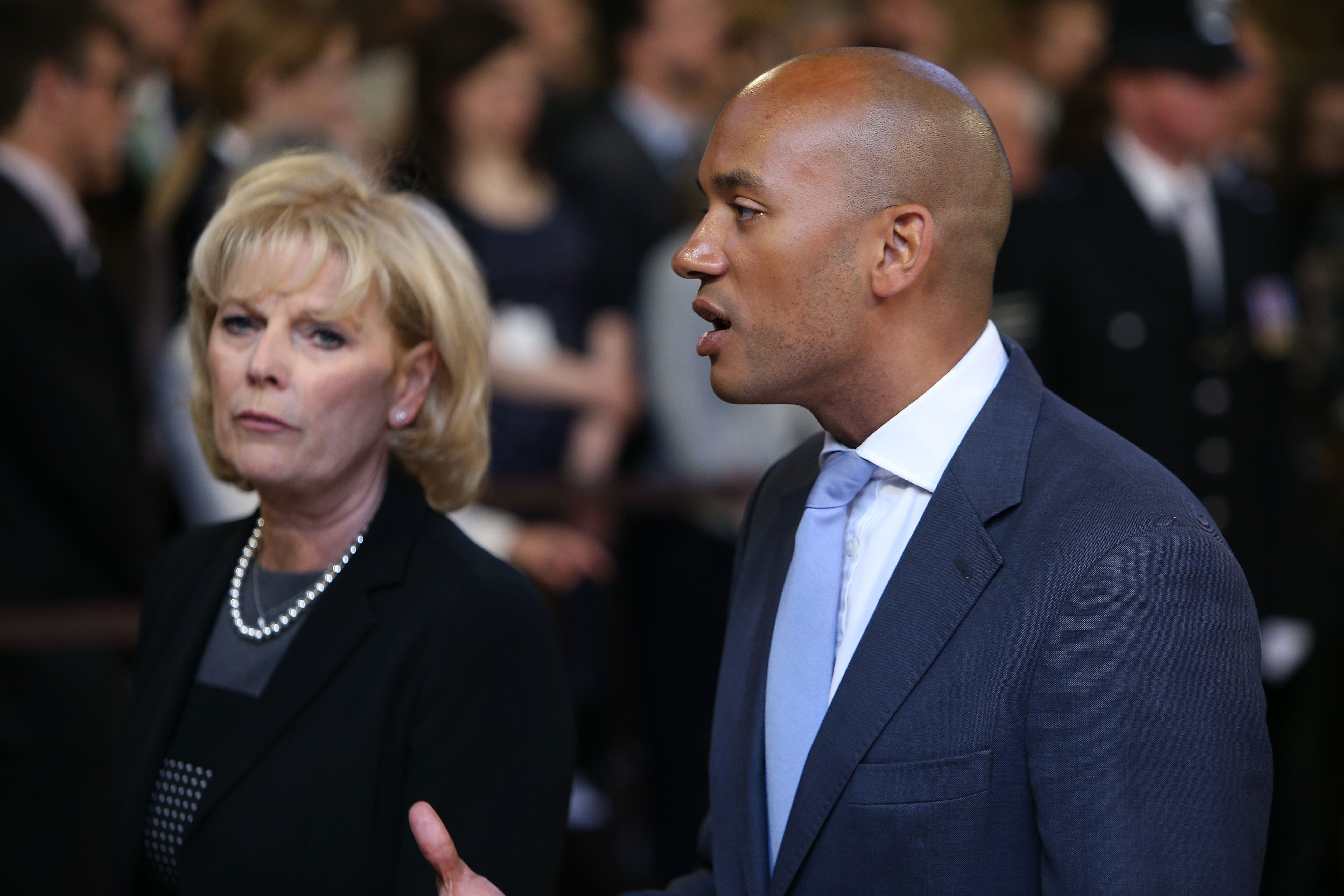 LONDON, ENGLAND - MAY 27: Shadow Business Secretary Chuka Umunna processes though the central lobby during the State Opening of Parliament at the Houses of Parliament on May 27, 2015 in London, England. The Queen's Speech is the centrepiece of the State Opening and is expected to see promise of an EU referendum, tax cuts and an extension of Right to Buy in the in the first all-Conservative Queen's Speech since 1996. (Photo by Dan Kitwood/Getty Images)