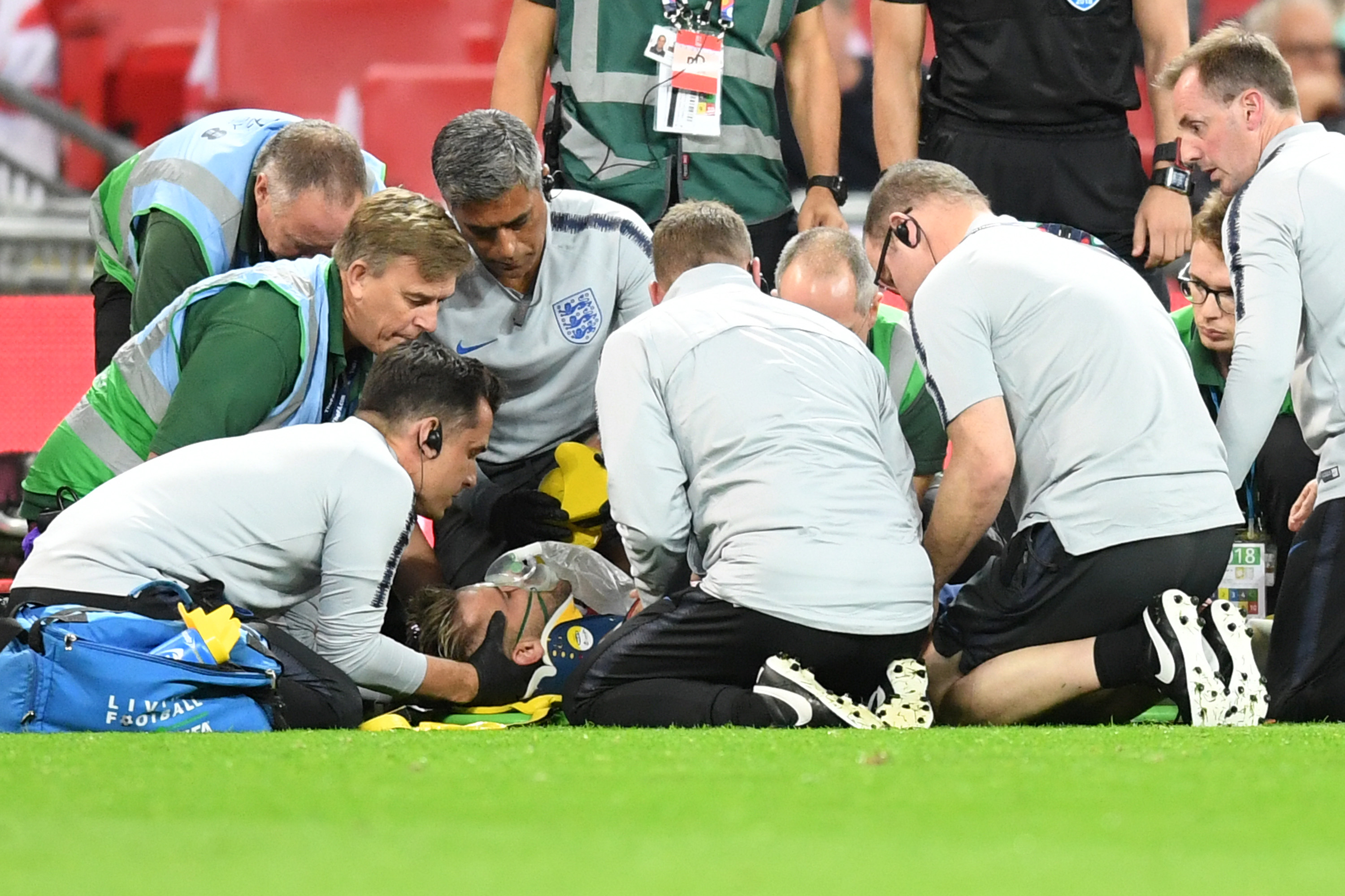 Doctor provides Luke Shaw's injury update after horror collision against Spain