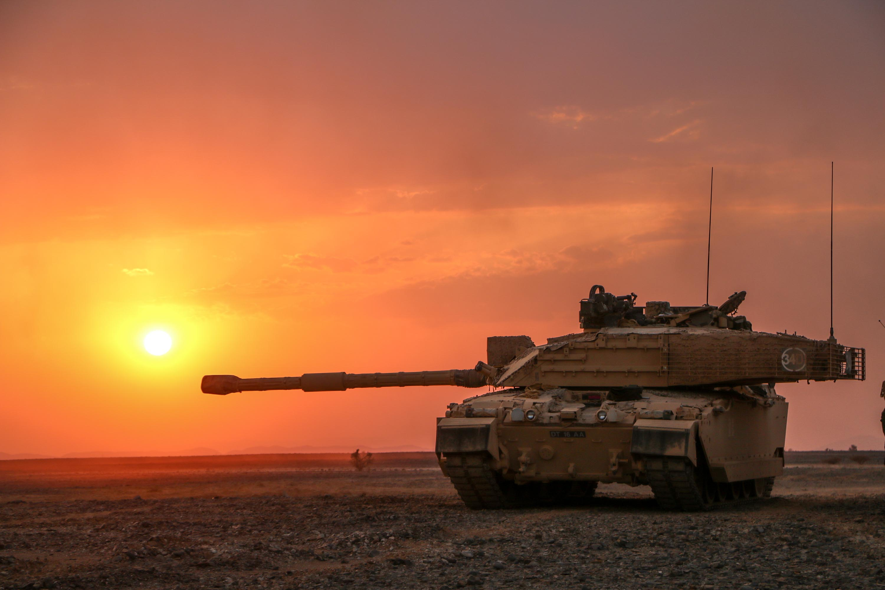Armour manoeuvre with Challenger 2 main battle tanks is a crucial component of our combat power on Exercise Saif Sareea 3 in Oman.